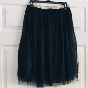 Xhilaration black tulle skirt